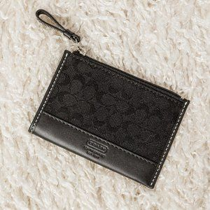 Coach pocket change purse with key chain